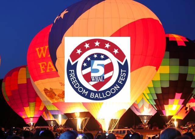 freedom balloon fest logo and balloons