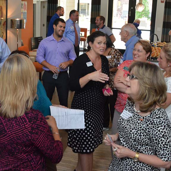Members and non members networking