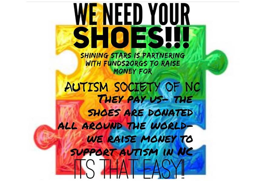 Shoe Drive To Benefit Autism Society Of NC